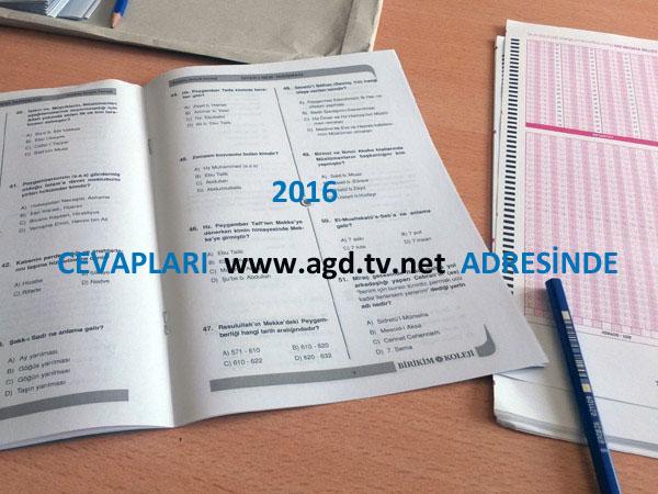 Siyer-i Nebi 2016 Sınavı Cevap Anahtarı