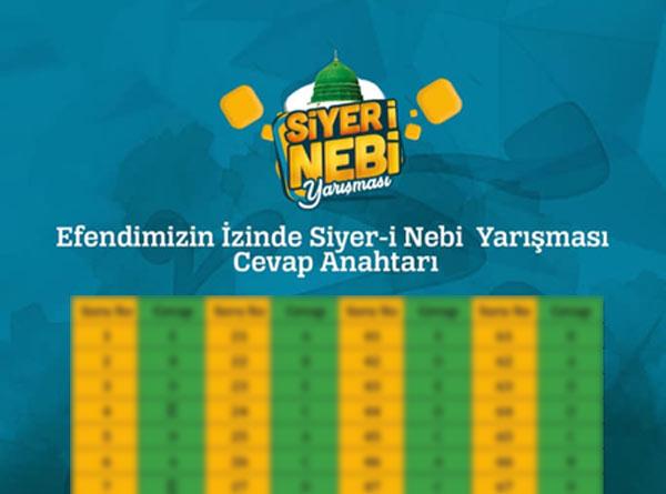 Siyer-i Nebi 2018 Cevapları Yayınlandı